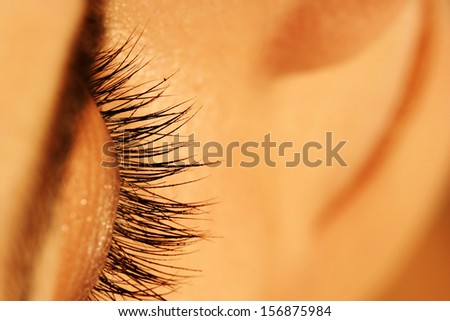 Woman Face With Closed Eye