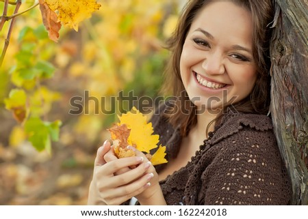 woman fall - stock photo