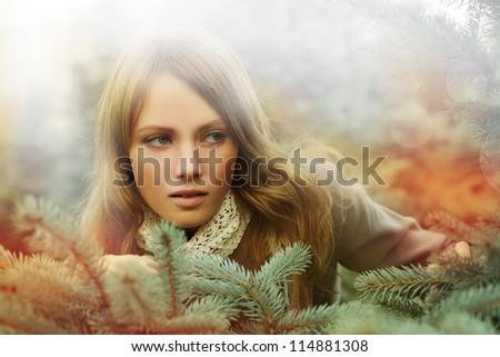 Woman, fashion beauty - desire - stock photo