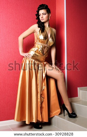 woman fashion model cool person nice clothes - stock photo