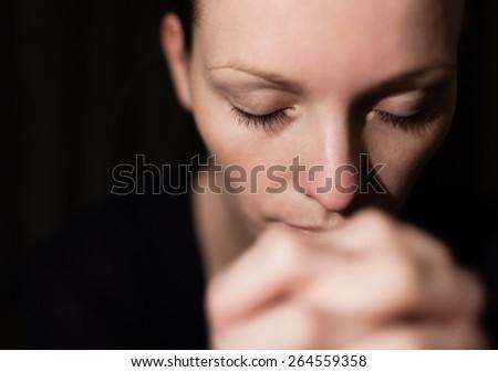 Woman feeling desperate.  - stock photo