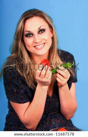 woman finger  lips  imaginate - stock photo