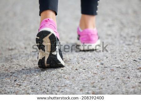 woman fitness sunrise jog workout  - stock photo