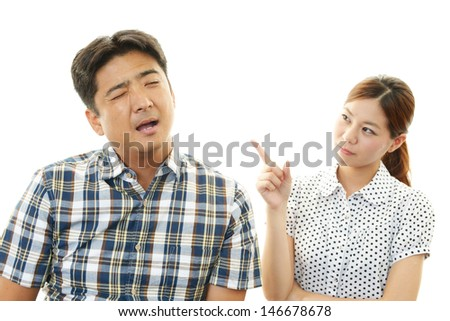 Woman gets mad - stock photo