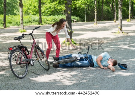 Bending over hot girls on bicycles