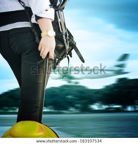 woman going on a business trip  - stock photo