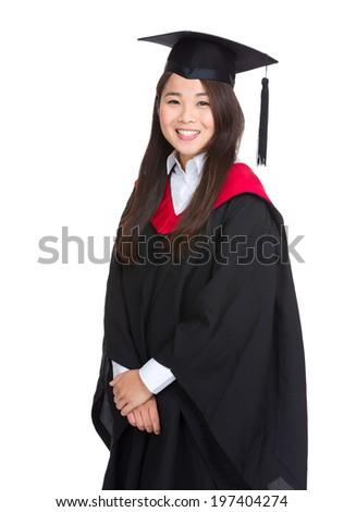 Woman graduate student - stock photo
