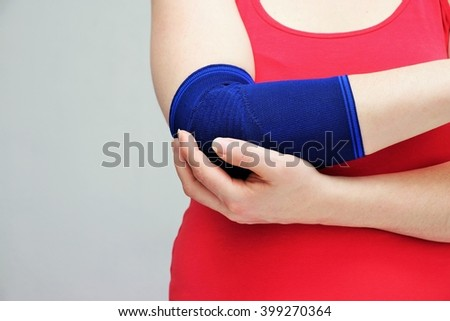 Woman hand and bandage
