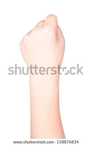 Woman hand fist - stock photo
