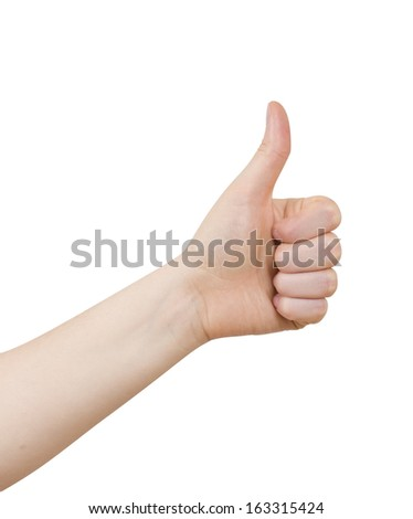 Woman Hand gesture is all right everything is OK