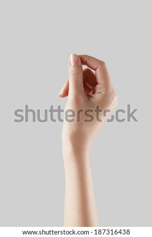 woman hand holding virtual card  - stock photo