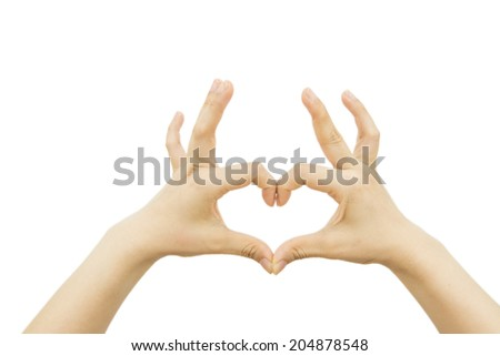 Woman hand holds virtual card or smart phone on white backgroun - stock photo