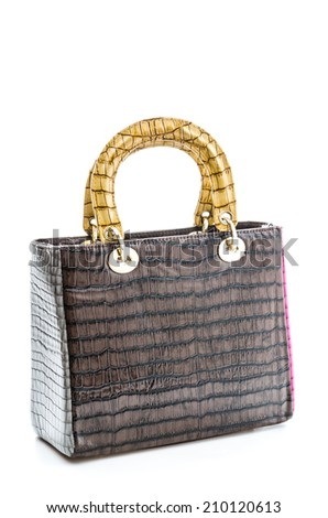 Woman handbag isolated on white