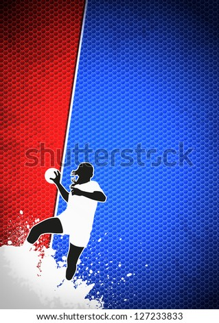 Woman Handball poster or flyer background with space