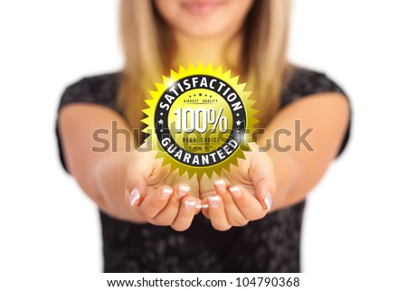 Woman hands holding Business symbol