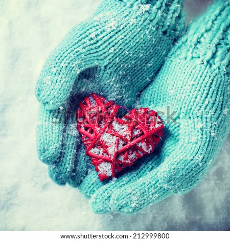 Knitting Pattern For Hand Holding Mittens : Mittens winter Stock Photos, Images, & Pictures Shutterstock