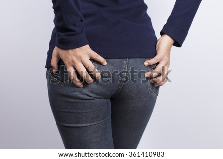 Woman has Diarrhea Holding her Butt