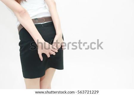 Female anal hemorrhoids latina