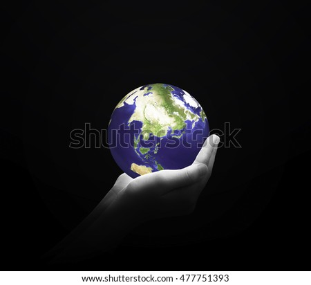 Woman holding in palms earth globe Ecology Earth Hour Spring Time Two Human Planet CSR Arbor Idea Kind Globe Shape Energy Seedling Tree Trust Synergy Generosity ROI Provider Nature Farming. Elements