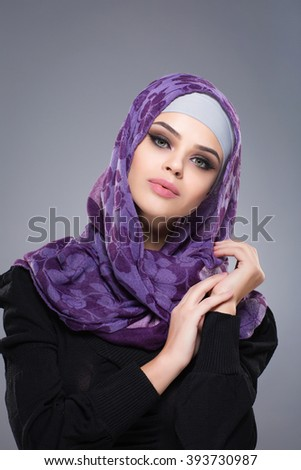 Woman in a Muslim scarf