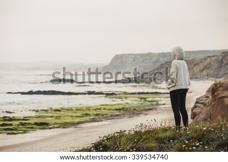 Woman in a relaxed moment after exercise - stock photo