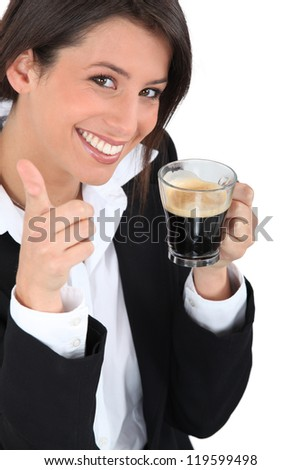 Woman in a suit - stock photo