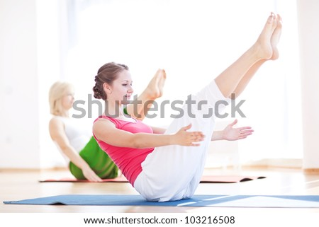 woman in a traditional yoga pose