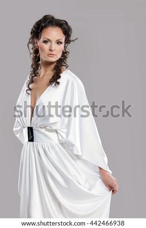 White greek style dresses