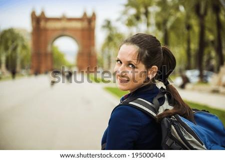 Woman in Barcelona - stock photo
