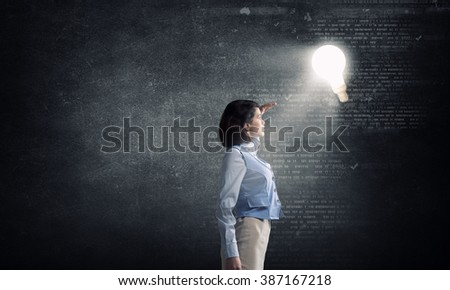 Woman in bright light