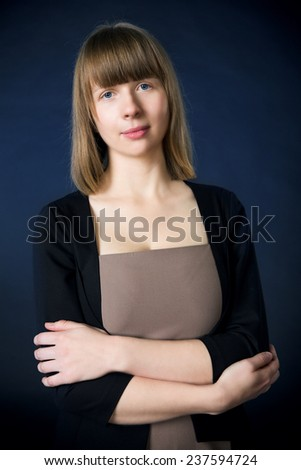 Woman in business suit - stock photo