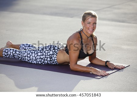 Woman in easy cobra pose