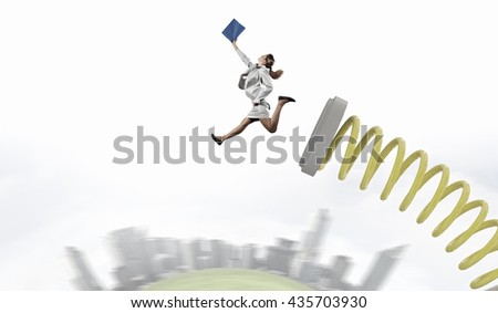 Woman in high jump