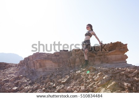 woman in Israel desert