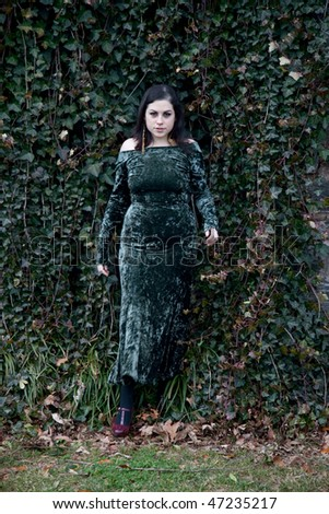 woman in ivy