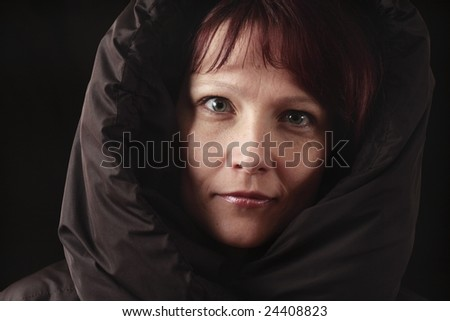 woman in jacket with hood