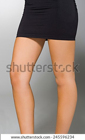 Woman in Little Black  - stock photo