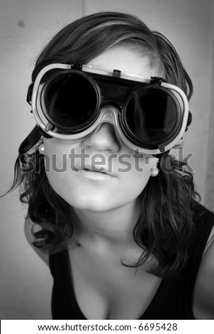 Woman in mask - stock photo