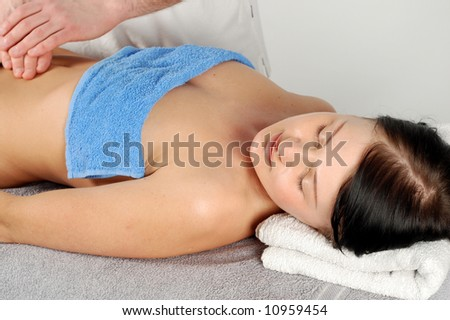 Woman in massage