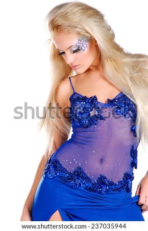 Woman in night dress - stock photo