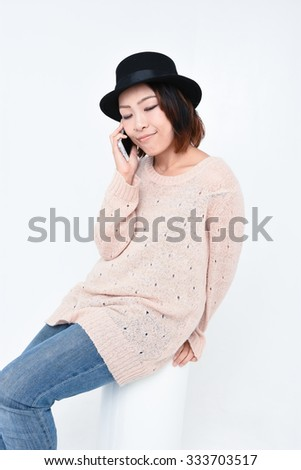 Woman in phone