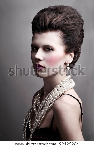 Woman in Renaissance Costume - stock photo