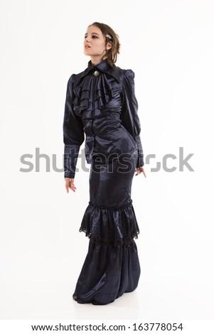 Woman in Renaissance Garb - stock photo
