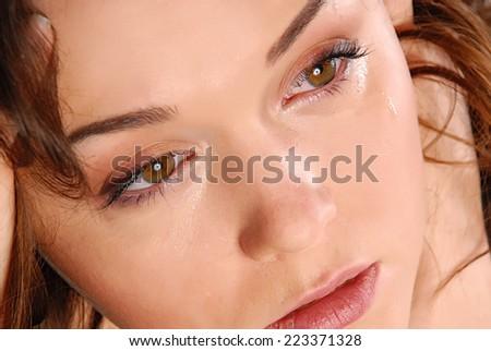 woman in sadness - stock photo