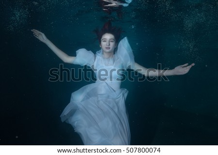 Girl Floating In Water In Dress | www.pixshark.com ...