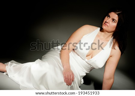 Woman In White Evening Dress