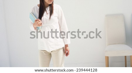 woman indoor stay - stock photo