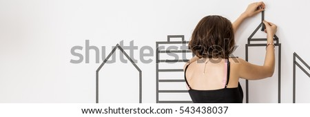 Wall Decals Stock Images RoyaltyFree Images  Vectors Shutterstock - How to put up wall decal