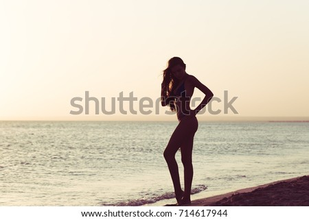 Woman is alone at beach