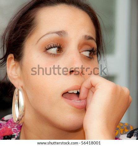 Woman is annoyed - stock photo